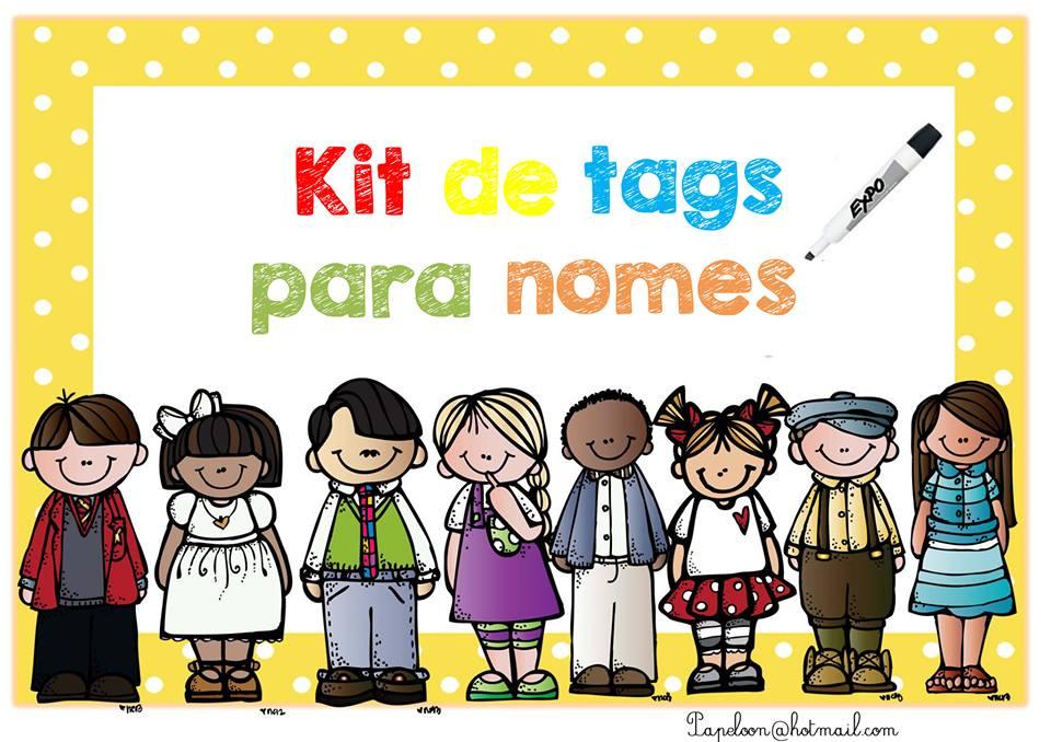 Kit de Tags para Nomes | Atividades de Leitura e Escrita ...