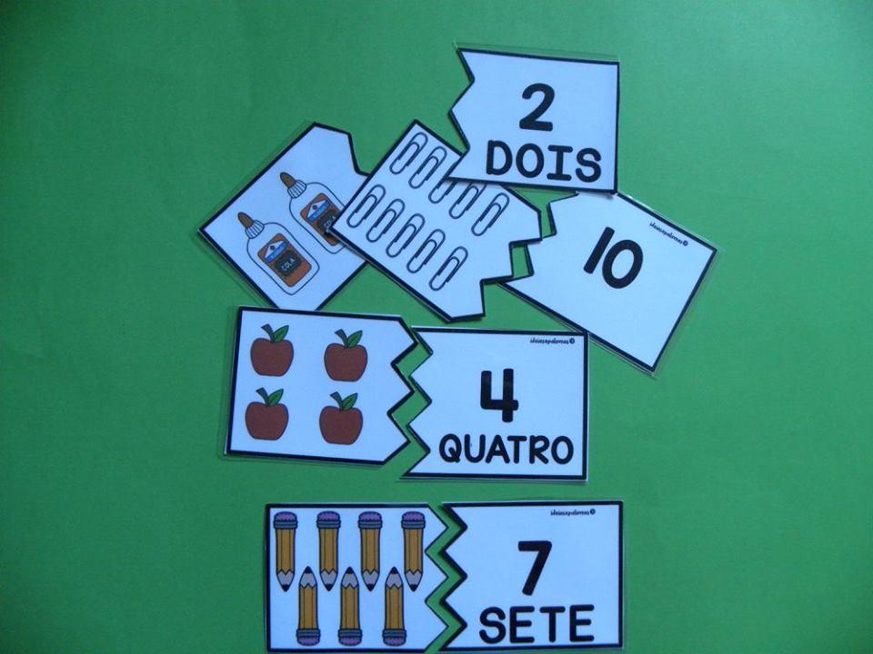 Jogo Pedagogico Quebra Cabeca Numeros 1 A 10 Atividades De