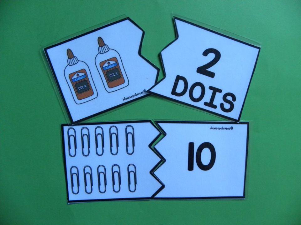 Jogo Pedagógico Quebra Cabeça Numeros 1 à 10