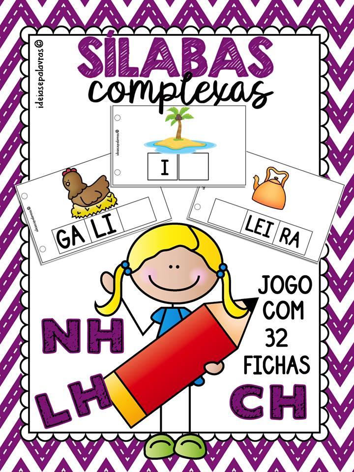 Jogo Pedagógico Sílabas Complexas Lh Nh E Ch Atividades De