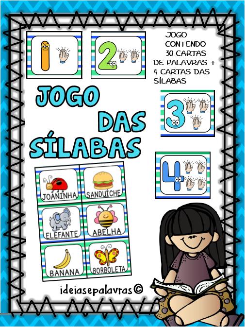 Preferência Jogo das Silabas - Consciência Silábica | Atividades de Alfabetização ZR43