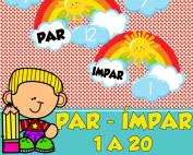 par ou impar 1 a 20   ideiasepalavras.com.br   atividade de alfabetização matemática