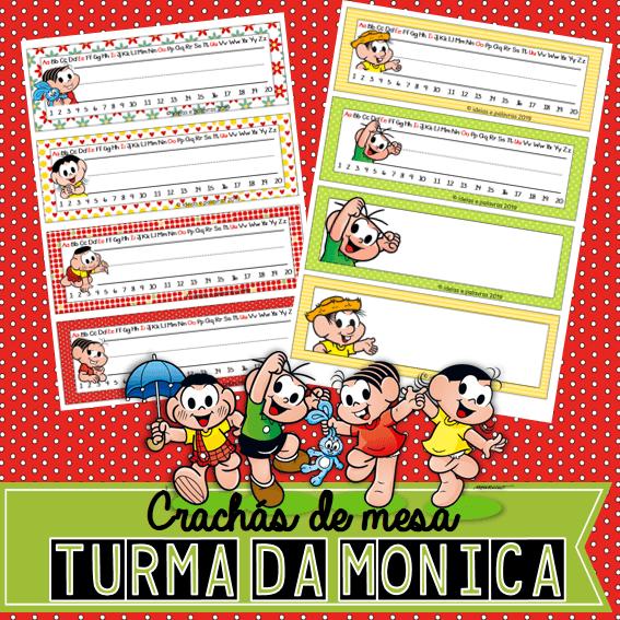 Crachas De Mesa Turma Da Monica Atividades De Alfabetizacao