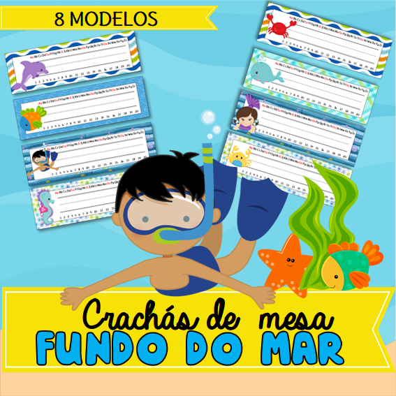 Crachas De Mesa Fundo Do Mar Crachas De Mesa Fundo Do Mar