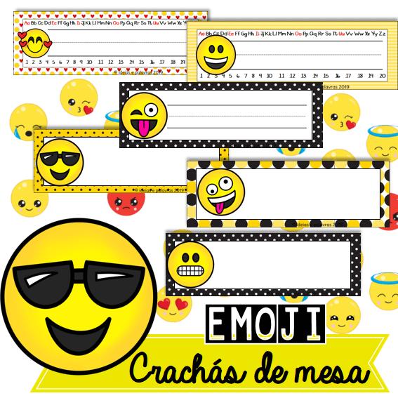 Crachas De Mesa Emoji Educacao Infantil Educacao Infantil